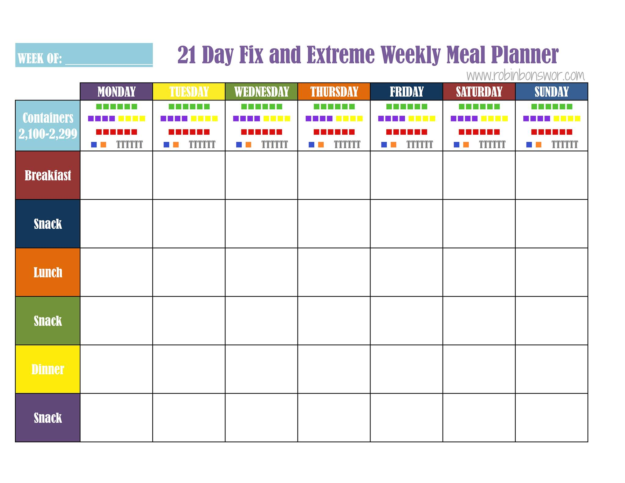 How to meal plan for the 21 Day Fix