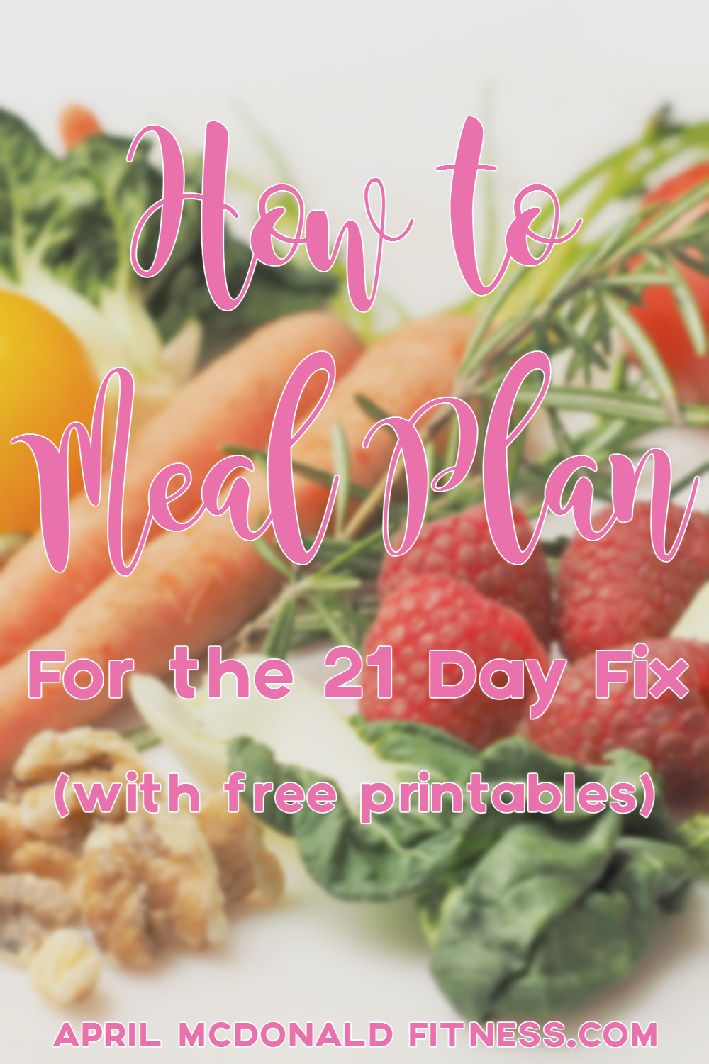 Tips on how to meal plan for the 21 day fix