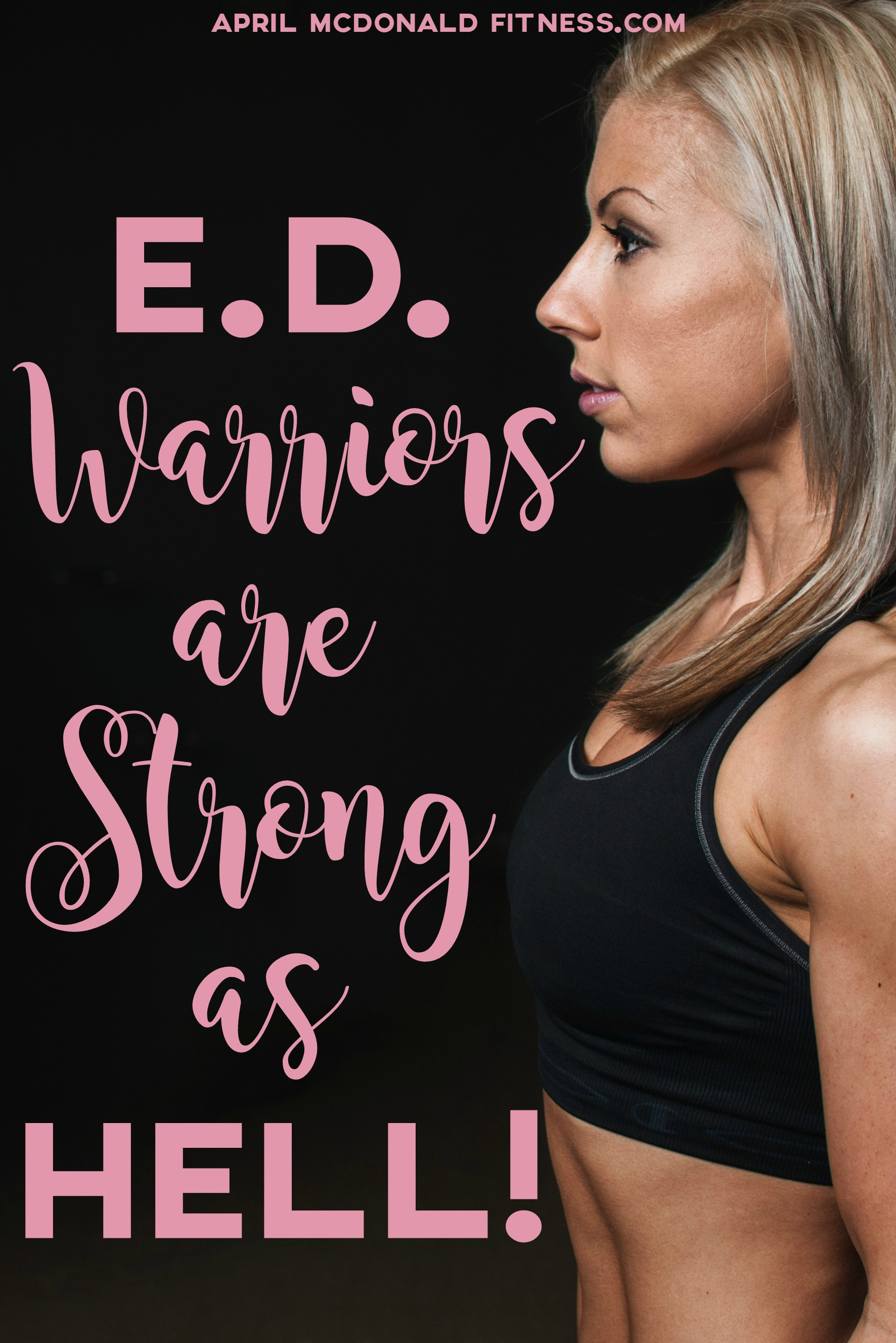 Don't let your eating disorder define you. Don't let it own you. You are a warrior. You are stronger than you know. You can overcome it.